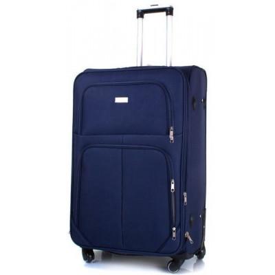 Чемодан тканевый JEMIS средний темно-синий 4 колеса 60 см