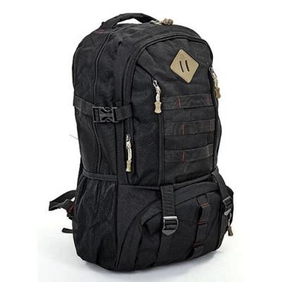 Рюкзак туристический 40л 50х34х19 черный