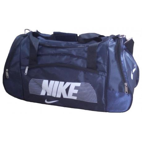 7d737183624a Сумка спортивная Nike со скошенными карманами большая темно-синяя 63 ...