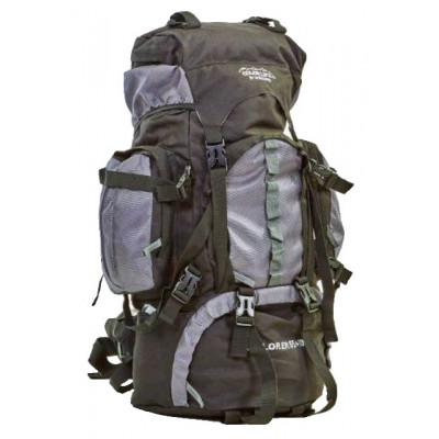 Рюкзак туристический каркасный COLOR LIFE 75 (65+10) литров нижний вход черно-серый