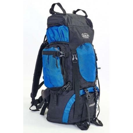 Рюкзак туристический каркасный COLOR LIFE 58(+20)х38х20 65(+10)л синий