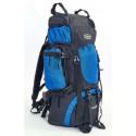 Рюкзак туристический каркасный COLOR LIFE 58(+20)х38х20 65(+10)л нижний вход синий