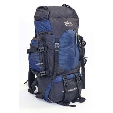 Рюкзак туристический каркасный COLOR LIFE 58(+20)х38х20 65(+10)л темно-синий