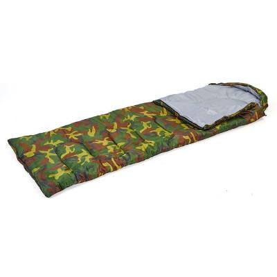 Спальный мешок одеяло с капюшоном камуфляж 400г/м2, 177+30х75см, t от -5 до +15