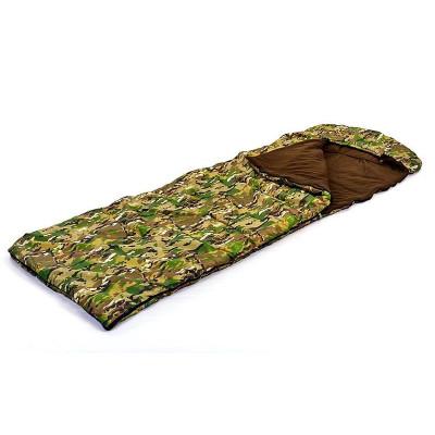 Спальный мешок одеяло с капюшоном камуфляж 320г/м2, 190+30х75см, t от -17 до +5