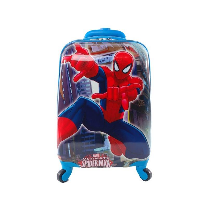 7cc7adcdad93 Чемодан детский пластиковый Человек паук 42 см 4 колеса - Travel Bag