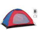 Палатка двухместная 2.00 х 1,50 м сине-красная T1SY004