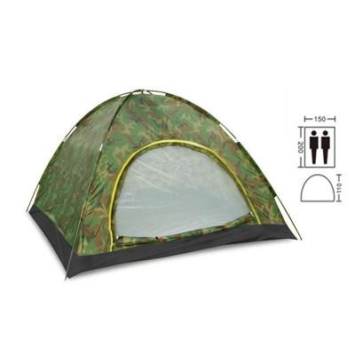 Палатка двухместная 2.00 х 1,50 м камуфляж самораскладывающаяся T1SY034