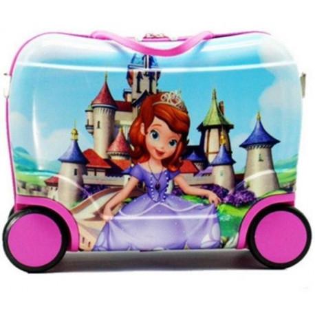 Чемодан детский пластиковый Микки Маус 42 см 4 колеса