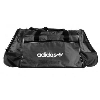 Сумка спортивная Adidas со скошенными карманами средняя серая 56 см