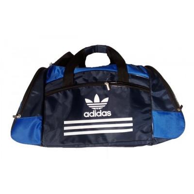 Сумка спортивная Adidas со скошенными карманами средняя темно-синяя 56 см