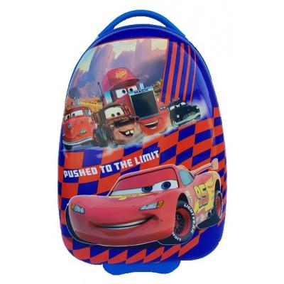 Чемодан детский пластиковый Тачки 42 см 2 колеса Bp037805