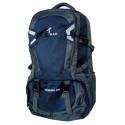 Рюкзак туристический Wenhao 70 л серо-темно-синий