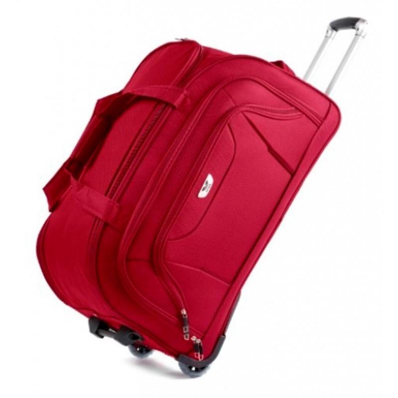 ed9e290b6b67 Сумка дорожная на колесах WINGS малая красная 52 см - Travel Bag