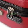 Чемодан большой David Jones бордовый пластиковый 71 см