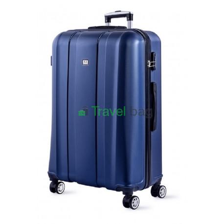 Чемодан пластиковый DAVID JONES 1028 большой синий 79 см