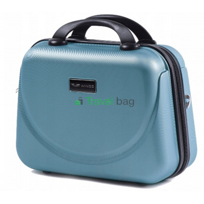 Кейс пластиковый WINGS 310 серебристо-синий