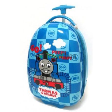 Чемодан детский пластиковый Паровозик Томас 42 см 2 колеса Bp035616
