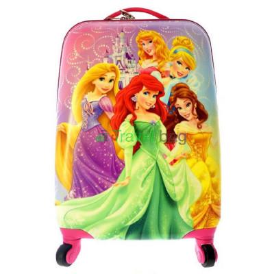 Чемодан детский пластиковый Принцесса 42 см 4 колеса