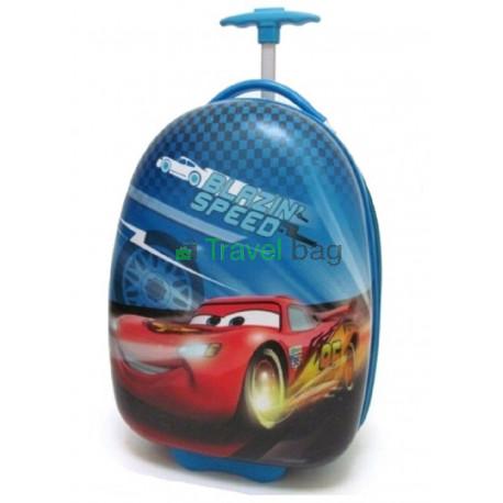 Чемодан детский пластиковый Тачка Маквин 42 см 2 колеса