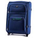 Чемодан тканевый WINGS 6802 средний темно-синий 63 см