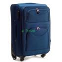Чемодан тканевый WINGS 6802 большой темно-синий 4 колеса 75 см