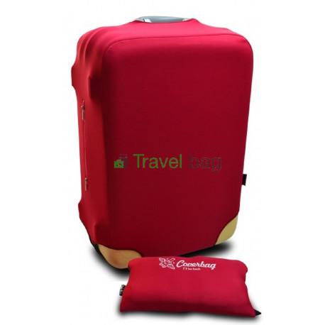 Чехол на чемодан размер S неопрен бордо