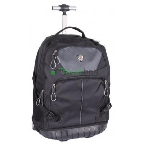 Рюкзак на колесах CALPAK 40 литров 50х38х25 см черно-серый