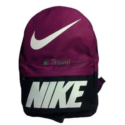 Рюкзак спортивный Nike (Найк) черно-бордовый 40х30 см.