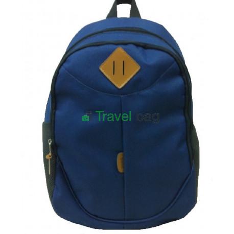 Рюкзак спортивный c ромбом на 2 отдела темно-синий 42х30 см