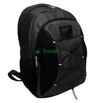 Рюкзак спортивный Uksport со шнурками черный 41х30 см