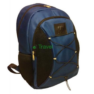 Рюкзак спортивный Uksport со шнурками черно-синий 41х30 см