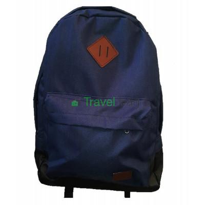 Рюкзак спортивный с кожаным дном черно-синий 45х30 см