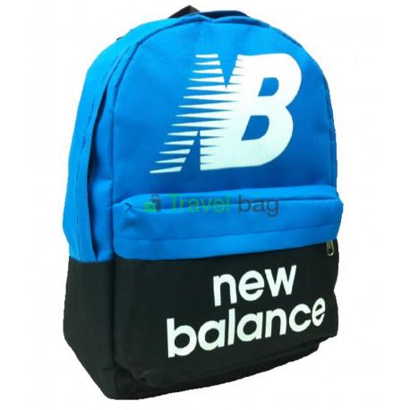Рюкзак спортивный New balance черно-голубой 40х30 см