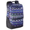 Рюкзак спортивный Wiste 45х30 черно-сиреневый узор