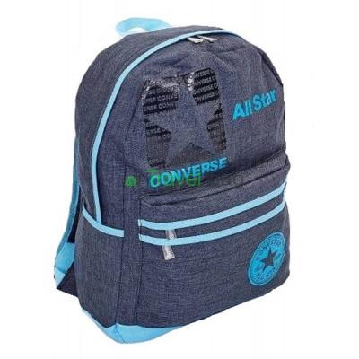 Рюкзак спортивный CONVERSE 43х30х12 черно-голубой