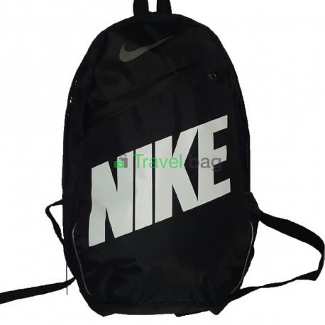 Рюкзак городской Nike (Найк) черный с белой надписью 40х27 см
