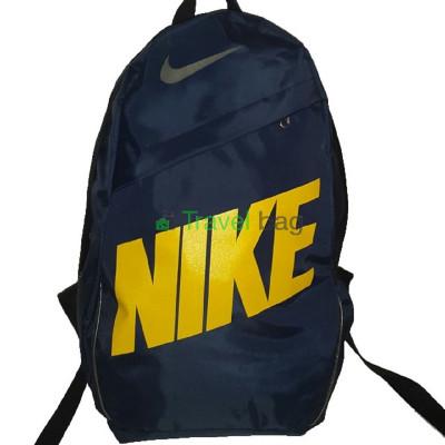 Рюкзак городской Nike (Найк) синий с желтой надписью 40х27 см