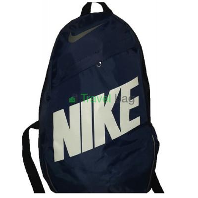 Рюкзак городской Nike (Найк) синий с белой надписью 40х27 см