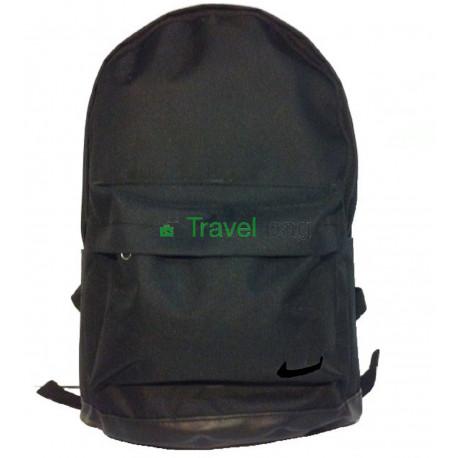 Рюкзак спортивный с кожаным дном черный 45х30 см
