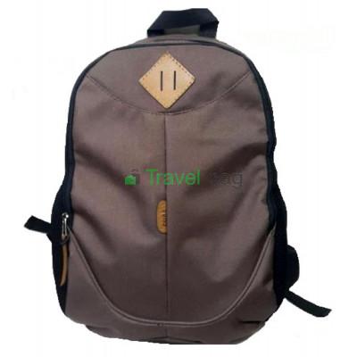 Рюкзак спортивный c ромбом на 2 отдела коричневый 42х30 см