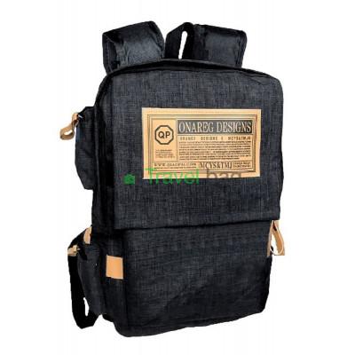 Рюкзак городской QP 40х30 см черный