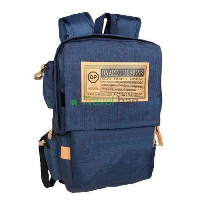 Рюкзак городской QP 40х30 см синий