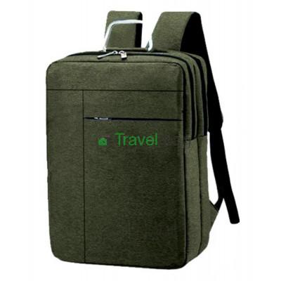Рюкзак городской для ноутбука 42х29 см серо-зеленый