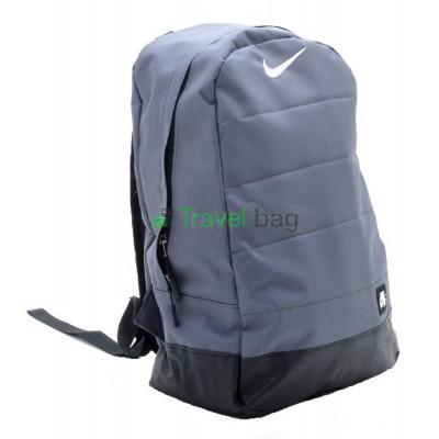 Рюкзак Nike с кожаным дном 45х30 черно-серый