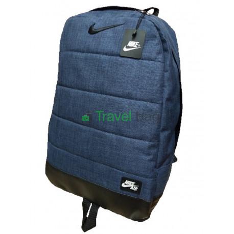 Рюкзак Nike с кожаным дном 45х30 черно-синий