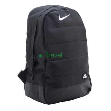 Рюкзак Nike с кожаным дном 45х30 черный