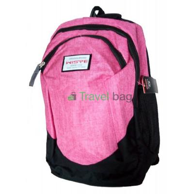 Рюкзак городской Wiste 45х30 черно-розовый
