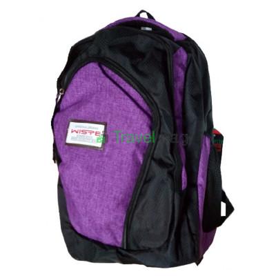 Рюкзак городской Wiste 45х30 черно-фиолетовый