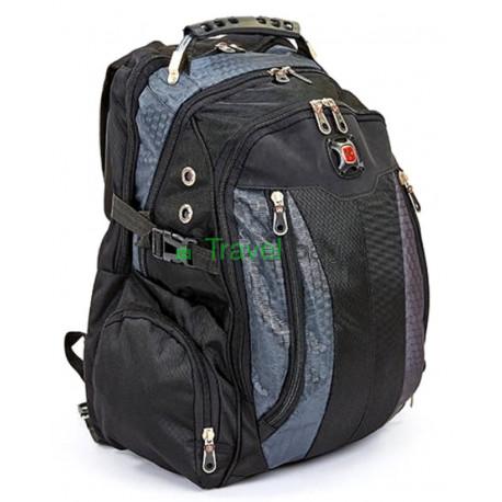 Рюкзак спортивный SWISSGEAR 7620-1 30л 44x32x13 черно-серый